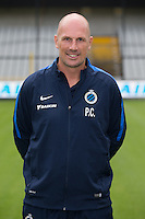Club's assistant coach Philippe Clement poses for the photographer during the 2015-2016 season photo shoot of Belgian first league soccer team Club Brugge, Friday 17 July 2015 in Brugge