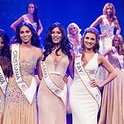 NLD/Hilversum/20131208 - Miss Nederland finale 2013, Overgebleven finalisten Laura van Rees , Christiana Terwilliger, Yasmin Verheijen, Fay Tholen