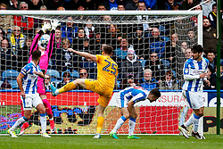 Jordan Hugill of Preston North End scores the equalising goal to make it 2-2 - Mandatory by-line: Matt McNulty/JMP - 14/04/2017 - FOOTBALL - The John Smith's Stadium - Huddersfield, England - Huddersfield Town v Preston North End - Sky Bet Championship