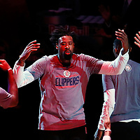 09 November 2016: Los Angeles Clippers center DeAndre Jordan (6) is seen during the players introduction prior to the LA Clippers 111-80 victory over the Portland Trail Blazers, at the Staples Center, Los Angeles, California, USA.