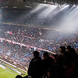MILAN, FEBRUARY 26: AC Milan supporters during Italian Championship soccer game, AC Milan - Juventus on february 26, 2012 in Milan