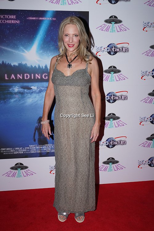 London, England, UK. 14th September 2017.Andrea Gordon (Doctors)Vecchierini attend the Landing Lake Film Premiere at Empire Haymarket,London, UK.