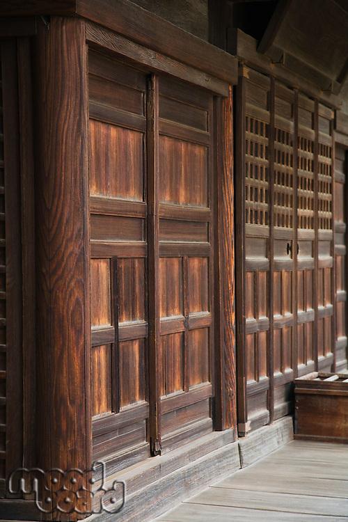Wood Walls and Doors at Achi-jinja Shrine
