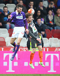 19.03.2016, Generali Arena, Wien, AUT, 1. FBL, FK Austria Wien vs RZ Pellets WAC, 28. Runde, im Bild Alexander Gorgon (FK Austria Wien) und Marc Andre Schmerboeck (RZ Pellets WAC) // during Austrian Football Bundesliga Match, 28th Round, between FK Austria Vienna and RZ Pellets WAC at the Generali Arena, Vienna, Austria on 2016/03/19. EXPA Pictures © 2016, PhotoCredit: EXPA/ Thomas Haumer