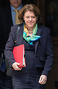 © Licensed to London News Pictures. 08/04/2014. London, UK Cutlure Secretary Maria Miller leaves the Cabinet Meeting on Downing Street  8th April 2014. Photo credit : Stephen Simpson/LNP