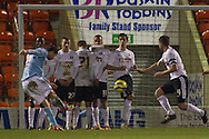 Picture by David Horn/Focus Images Ltd +44 7545 970036.15/01/2013.Nick Proschwitz of Hull City goes close with a free kick during the The FA Cup match at the Matchroom Stadium, London.
