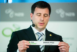 Ales Zavrl of NZS with paper NK Drava Ptuj during NZS Draw for season 2015/16 on June 23, 2015 in Brdo pri Kranju, Slovenia. Photo by Vid Ponikvar / Sportida