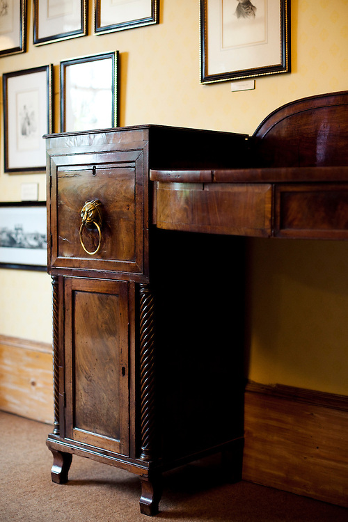 A desk belonging to Charles Dickens, 'Dickens House' museum, Broadstairs, Kent