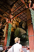 Todaiji Temple, the world's largest wooden structure and-worlds largest bronze casting 437 ton buddha.
