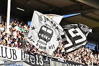 Fotball Menn Eliteserien Rosenborg-Strømsgodset<br /> Lerkendal Stadion, Trondheim<br /> 22 april 2019<br /> <br /> Rosenborgs supportere Kjernen med flagg<br /> <br /> <br /> Foto : Arve Johnsen, Digitalsport