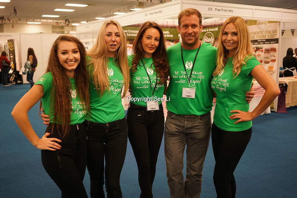 London, England, UK. 20th October 2017. Angels for the innocent attends The First VegfestUK Trade at Olympia London, UK