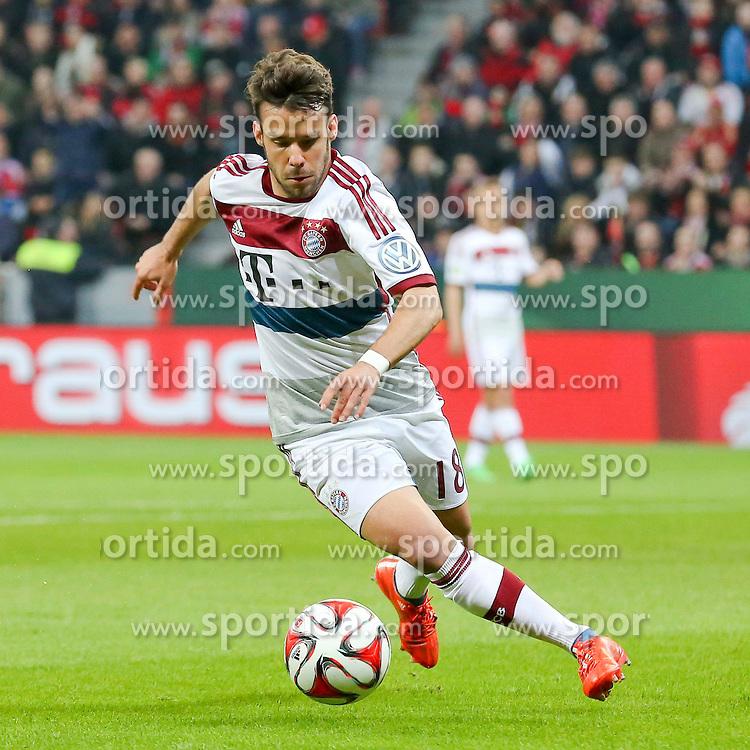 08.04.2015, BayArena, Leverkusen, GER, DFB Pokal, Bayer 04 Leverkusen vs FC Bayern Muenchen, Viertelfinale, im Bild Juan Bernat (FC Bayern Muenchen #18) // during the German DFB Pokal quarter final match between Bayer 04 Leverkusen and FC Bayern Munich at the BayArena in Leverkusen, Germany on 2015/04/08. EXPA Pictures &copy; 2015, PhotoCredit: EXPA/ Eibner-Pressefoto/ Sch&uuml;ler<br /> <br /> *****ATTENTION - OUT of GER*****