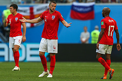 July 14, 2018 - Saint Petersburg, Russia - Eric Dier of the England national football team reacts during the 2018 FIFA World Cup Russia 3rd Place Playoff match between Belgium and England at Saint Petersburg Stadium on July 14, 2018 in St. Petersburg, Russia. (Credit Image: © Igor Russak/NurPhoto via ZUMA Press)