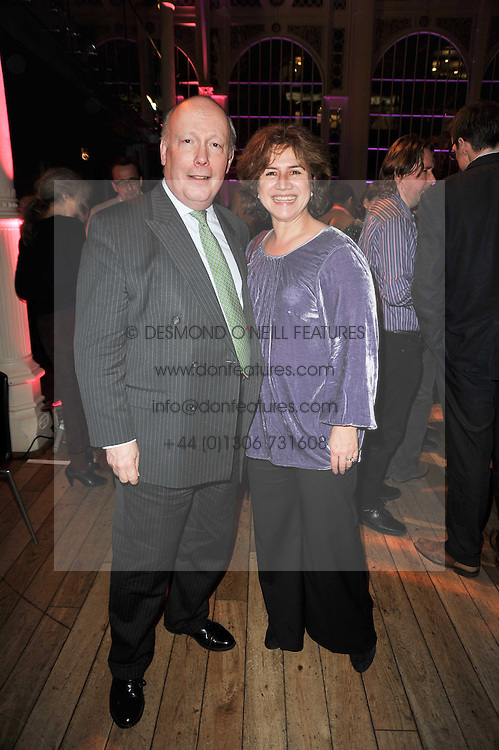 LORD FELLOWES OF WEST STAFFORD and JANE SLADE at the annual Orion Publishing Group's Author party held in the Paul Hamlyn Hall, The Royal Opera House, Covent Garden, London on 15th February 2011.