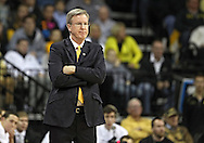 January 19 2013: Iowa Hawkeyes head coach Fran McCaffery looks on during the second half of the NCAA basketball game between the Wisconsin Badgers and the Iowa Hawkeyes at Carver-Hawkeye Arena in Iowa City, Iowa on Sautrday January 19 2013. Iowa defeated Wisconsin 70-66.