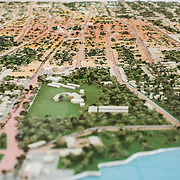 A scale model of the city of Granada on display at the Centro Cultural Convento San Francisco. The The Centro Cultural Convento San Francisco, located just a couple of blocks from Parque Central in Granada, is dedicated to the history of the region.