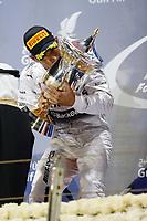 HAMILTON Lewis (Gbr) Mercedes Gp Mgp W05 Portrait podium ambiance during the 2014 Formula One World Championship, Grand Prix of Bahrain on April 6, 2014 in Sakhir, Bahrain. Photo François Flamand / DPPI