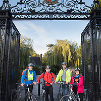 FREE IMAGE- NO REPRO FEE. As part of Campus Cycle Week in University College Cork. An early morning Bike Breakfast was held on campus. Photographed were: David O Leary, UCC President, Professor Patrick O Shea, Dr. Dean Venables  and Imelda Sheehan.  Photo By Tomas Tyner, UCC.