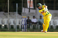 Alyssa Healy of Australia plays a shot during the second women's one day International ( ODI ) match between India and Australia held at the Reliance Cricket Stadium in Vadodara, India on the 15th March 2018<br /> <br /> Photo by Vipin Pawar / BCCI / SPORTZPICS