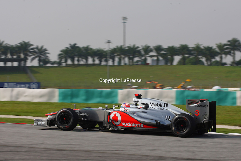 &copy; Photo4 / LaPresse<br /> 23/3/2012 Sepang<br /> Malaysian Grand Prix, Sepang 2012<br /> In the pic: Jenson Button (GBR), McLaren  Mercedes, MP4-27