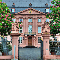 Rhineland-Palatinate Landtag in Mainz, Germany <br /> The 18th century Deutschhaus building was heavily bombed by Allied forces in 1945.  After the war, the Rhineland-Palatinate Landtag, which is the parliamentary group for the federal state, decided to reconstruct the former palace.  Since it reopened in 1951, the Landtag&rsquo;s 101 members have met in this building.