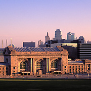 Missouri, Kansas City; Union Station (RR) With City Skyline Behind