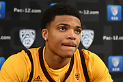 Arizona State's Rob Edwards during Pac-12 Basketball Media Day, Tuesday, Oct. 8, 2019, in San Francisco, Calif. (Dylan Stewart/Image of Sport)