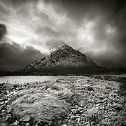 Buachaille Etive Mor and river Etive from Rannoch moor