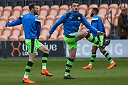 FGR players warming up during the EFL Sky Bet League 2 match between Barnet and Forest Green Rovers at The Hive Stadium, London, England on 7 April 2018. Picture by Shane Healey.