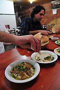 Israel, Jerusalem Hummus restaurant a plate of Hummus