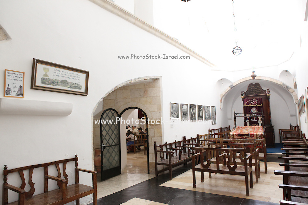 Israel, Jerusalem, Old City, Jewish Quarter, the Four Sephardic Synagogues complex. Emtsai Synagogue or Middle Synagogue