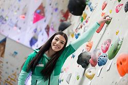Mia Krampl at press conference #SlovenijaPleza 2018 of Slovenia climbing team, on April 9, 2018 in Plezalni center Ljubljana, Ljubljana, Slovenia. Photo by Urban Urbanc / Sportida