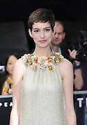 18.JULY.2012. LONDON<br /> <br /> ANNE HATHAWAY ATTENDS THE EUROPEAN PREMIERE OF BATMAN 'THE DARK NIGHT RISES' AT THE ODEON CINEMA, LEICESTER SQUARE.<br /> <br /> BYLINE: EDBIMAGEARCHIVE.CO.UK<br /> <br /> *THIS IMAGE IS STRICTLY FOR UK NEWSPAPERS AND MAGAZINES ONLY*<br /> *FOR WORLD WIDE SALES AND WEB USE PLEASE CONTACT EDBIMAGEARCHIVE - 0208 954 5968*