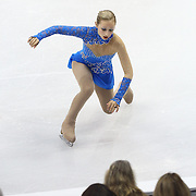 Franchesca Chiera competes during the championship ladies free skate at the 2014 US Figure Skating Championships at the TD Garden on January 11, 2014 in Boston, Massachusetts.
