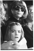 Anna Wintoour and daughter Bee Schaffer, fashion show, New York 1994© Copyright Photograph by Dafydd Jones 66 Stockwell Park Rd. London SW9 0DA Tel 020 7733 0108 www.dafjones.com