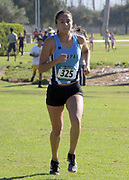 Samantha Barajas of Moorpark places second in the women's race in 17;26.8 during the Southern California Community College cross country finals in Cerritos, Calif., Friday, Nov. 2, 2018. (Kirby Lee via AP)