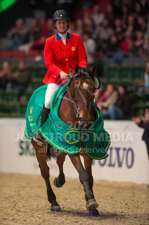 Beezie Madden (USA) & Simon, winners of the first round of the Rolex FEI World Cup Jumping Final - Gothenburg Horse Show 2013 - Scandinavium, Gothenburg, Sweden - 25 April 2013