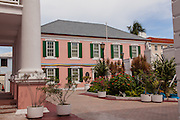 Government buildings in Parliament Square Nassau, Bahamas.