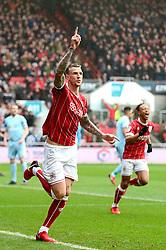Aden Flint of Bristol City celebrates scoring a goal - Mandatory by-line: Dougie Allward/JMP - 10/02/2018 - FOOTBALL - Ashton Gate Stadium - Bristol, England - Bristol City v Sunderland - Sky Bet Championship