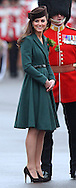 """CATHERINE, DUCHESS OF CAMBRIDGE PREGNANT .An official staement by Buckingham Palace confirmed Kate's pregnancy. However, no date of birth has been given...KATE'S PRESENTS SHAMROCKS TO IRISH GUARDS.The Duchess of Cambridge presented shamrocks to the 1st Battalion Irish Guards at the St Patrickís Day Parade, Mons Barracks, Aldershot..The origin of the Royal gift of Shamrock dates back to the Regiment's first St Patrick's day in 1901. The Duchess also met the Irish Guards mascot, an Irish Wolfhound called Conmael and presented him with a Shamrock.17/03/2012.Mandatory Credit Photo: ©MoD/NEWSPIX INTERNATIONAL..**ALL FEES PAYABLE TO: """"NEWSPIX INTERNATIONAL""""**..IMMEDIATE CONFIRMATION OF USAGE REQUIRED:.Newspix International, 31 Chinnery Hill, Bishop's Stortford, ENGLAND CM23 3PS.Tel:+441279 324672  ; Fax: +441279656877.Mobile:  07775681153.e-mail: info@newspixinternational.co.uk"""