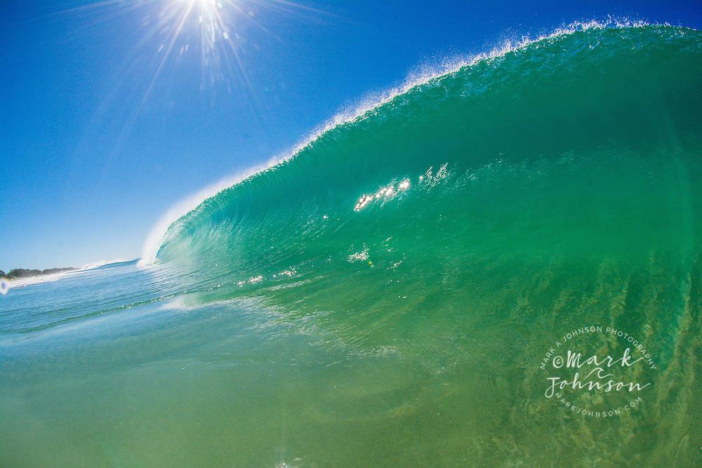 Breaking wave, Queensland, Australia