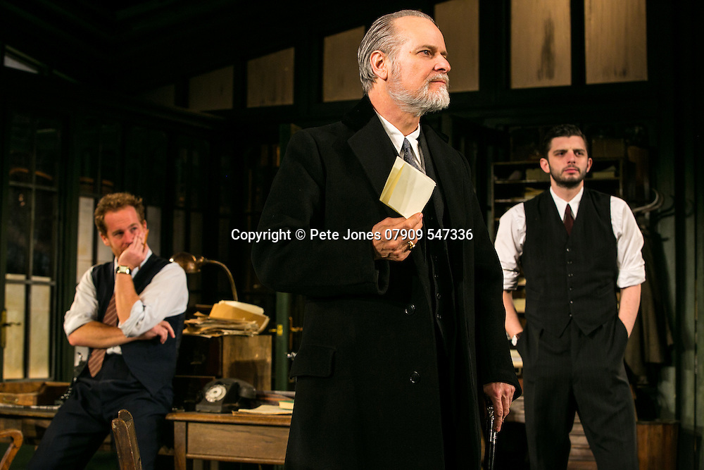 An Enemy of the People by Henrik Ibsen;<br /> Directed by Howard Davies;<br /> Adam James as Hovstad;<br /> William Gaminara as Peter Stockmann;<br /> Michael Fox as Billing;<br /> Chichester Festival Theatre, Chichester, UK;<br /> 29 April 2016
