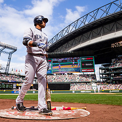 SEATTLE, WASHINGTON - JUNE 9: Robinson Cano (24) of the New York Yankees stands in the on deck circle at Safeco Field in Seattle, WA. (Photo by Christopher Mast/Grand Salami Magazine)