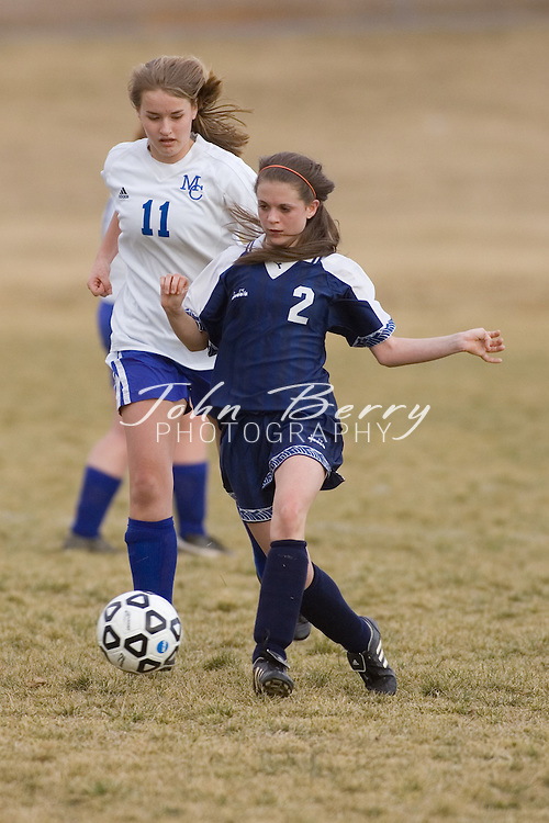 MCHS JV Girl's Soccer.vs Orange.March 12, 2007