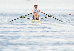 Luka Spik of VK Bled competes during 54th Prvomajska Regatta Bled 2013, on April 21, 2013, at Lake Bled, Bled, Slovenia. (Photo By Vid Ponikvar / Sportida.com)