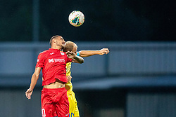 Senijad Ibricic of NK Domzale and Stephen Pisani of FC Balzan during 2nd Leg Football match between NK Domzale and FC Balzan  in First Qualifying match of UEFA Europa League 2019/2020, on July 18, 2019 in Sports park Domzale, Domzale, Slovenia. Photo by Ziga Zupan / Sportida