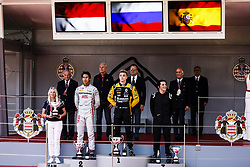 May 25, 2018 - Montecarlo, Monaco - 01 Artem MARKELOV from Russia of RUSSIAN TIME, 03 Sean GELAEL from India of PERTAMINA PREMA THEODORE RACING and 09 Roberto MEHRI from Spain of MP MOTORSPORT during the Monaco Formula One Grand Prix  at Monaco on 23th of May, 2018 in Montecarlo, Monaco. (Credit Image: © Xavier Bonilla/NurPhoto via ZUMA Press)