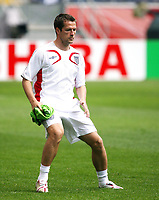 Photo: Chris Ratcliffe.<br /> England training session. FIFA World Cup 2006. 09/06/2006.<br /> Michael Owen in training before the game tomorrow.
