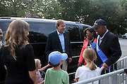 Mark Cornell, President, Hennessey USA, North and Family arrive at the 42 Annual West Indian Day Carnival Breakfast Co-Sponsored by Hennessey at Lincoln Terrace Park Tennis Court on September 7, 2009 in Brooklyn, NY