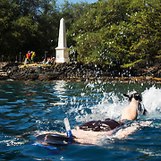 Captain Cook Monument, Big Island, Hawaii.